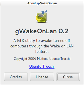 About dialog for gWakeOnLAN 0.2