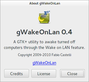 About dialog for gWakeOnLAN 0.4